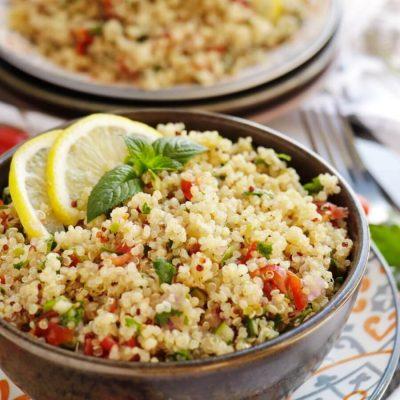 Quinoa Tabbouleh Salad Recipe-Quinoa Tabouli-How to Make Quinoa Tabbouleh Salad