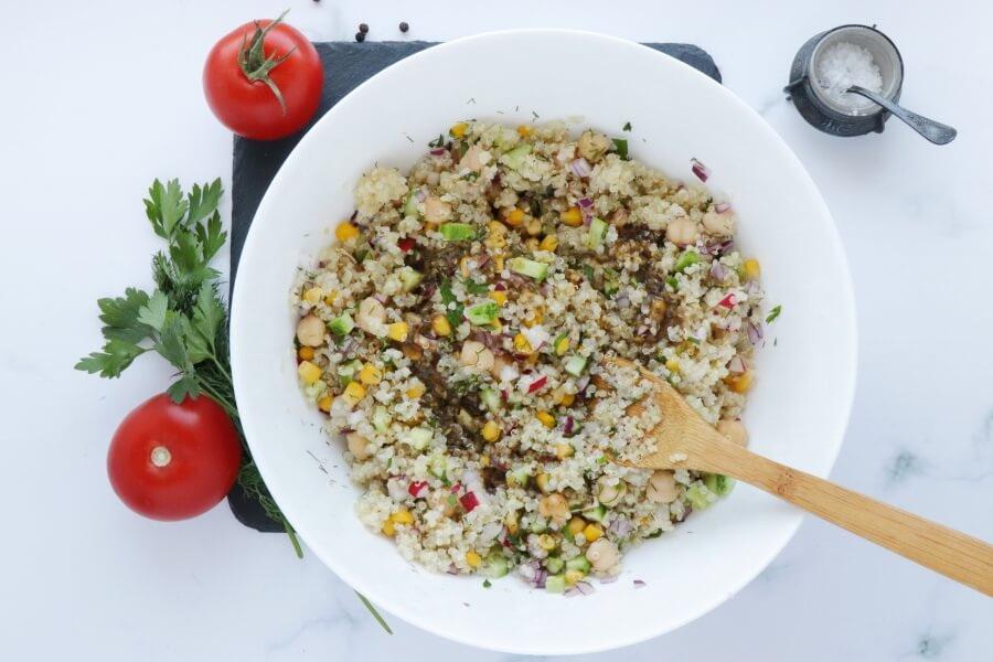 Gluten Free Quinoa and Chickpea Stuffed Tomatoes recipe - step 4