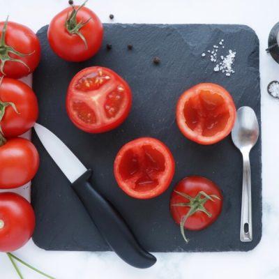 Gluten Free Quinoa and Chickpea Stuffed Tomatoes recipe - step 5