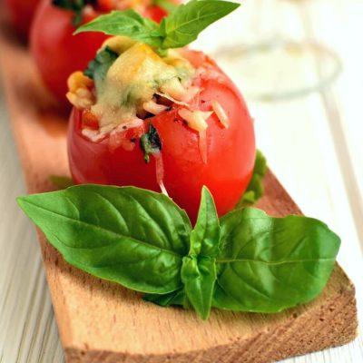 Roasted Corn and Basil Stuffed Tomatoes Recipe-How To Make Roasted Corn and Basil Stuffed Tomatoes-Delicious Roasted Corn and Basil Stuffed Tomatoes1