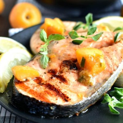 Salmon with Apricot Recipe-How To Make Salmon with Apricot-Delicious Salmon with Apricot