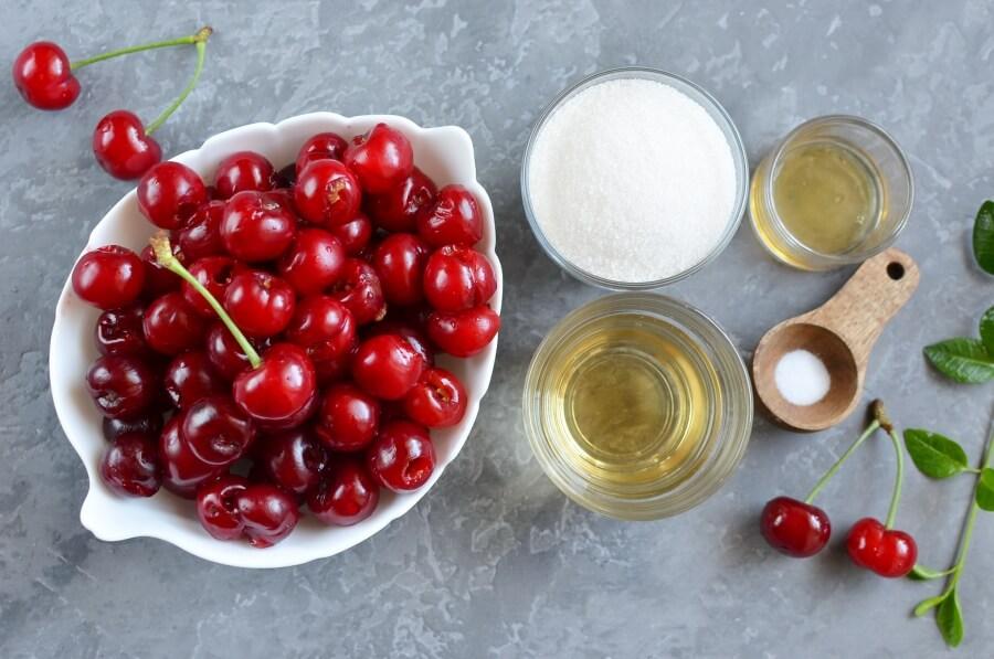 Ingridiens for Sour Cherry Sorbet