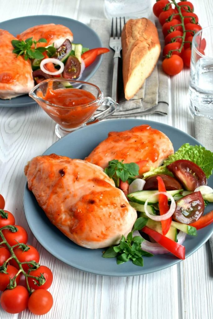 Juicy, Broiled Chicken with a Sweet and Spicy Apricot Glaze