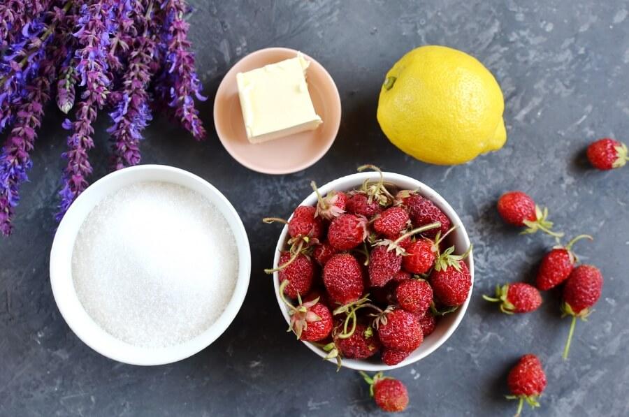 Ingridiens for Strawberry Jam