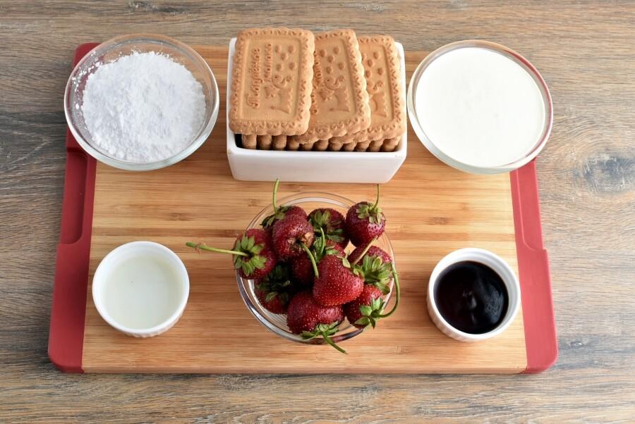 Ingridiens for Strawberry Shortcake Slice