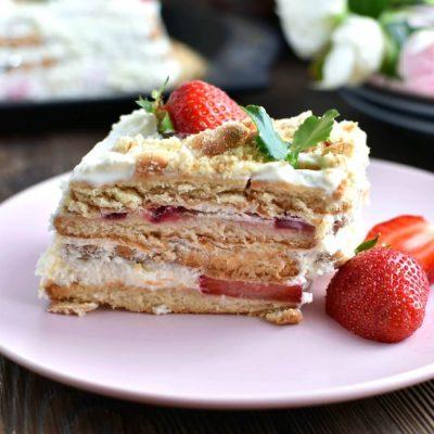 Strawberry shortcake slice Recipe-How To Lemon Strawberry shortcake slice-Delicious Strawberry shortcake slice
