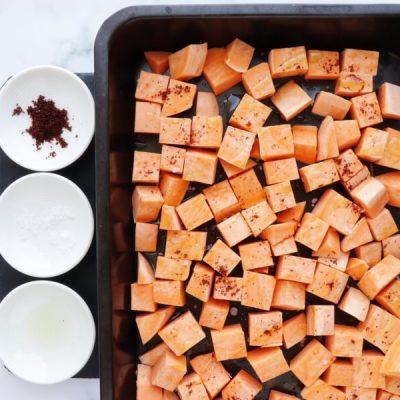 Sweet Potato, Avocado and Black Bean Tacos recipe - step 1