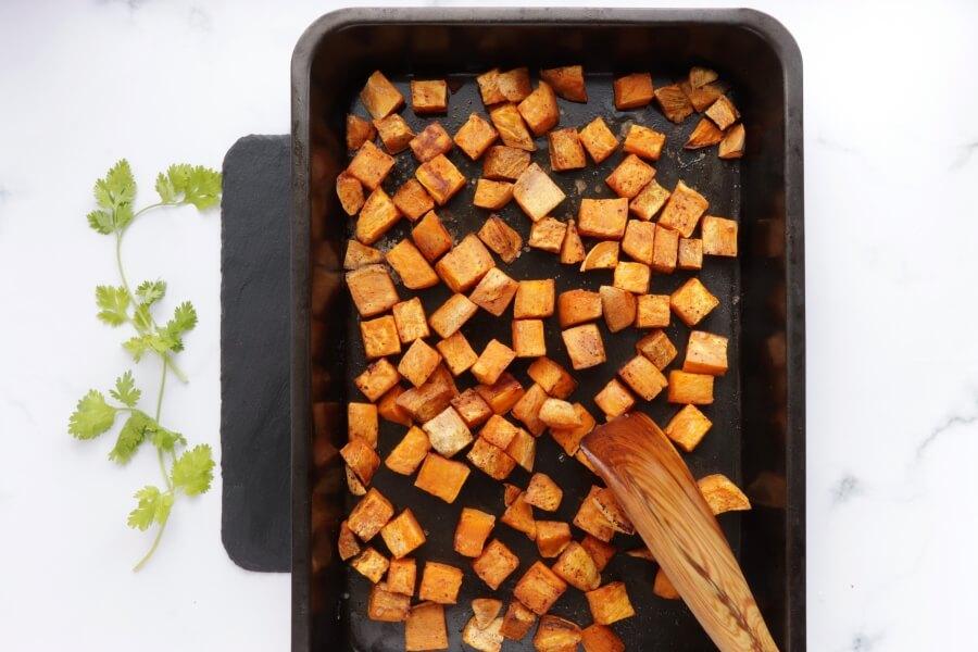 Sweet Potato, Avocado and Black Bean Tacos recipe - step 2