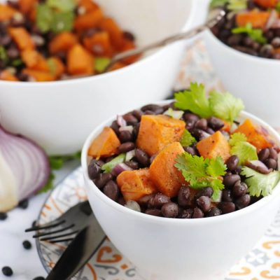 Vegan Black Bean and Sweet Potato Salad Recipe-Black Bean Salad with Roasted Sweet Potatoes-Sweet Potato Black Bean Salad