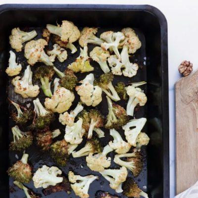 Vegan Roasted Cauli-Broc Bowl with Tahini Hummus recipe - step 1