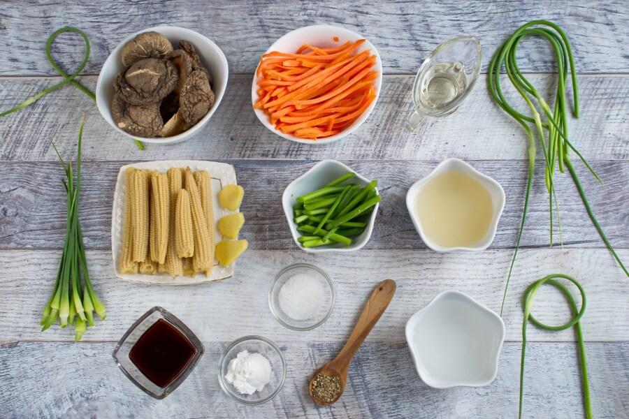 Ingridiens for Vegan Stir Fried Garlic Scape