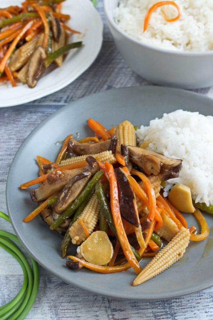 Vegan Stir Fried Garlic Scape