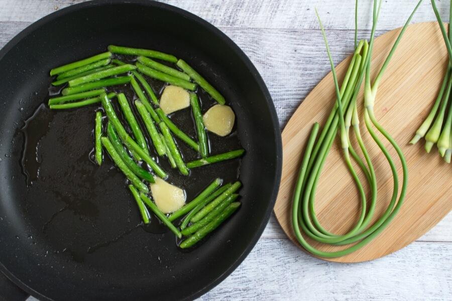 Vegan Stir Fried Garlic Scape recipe - step 3