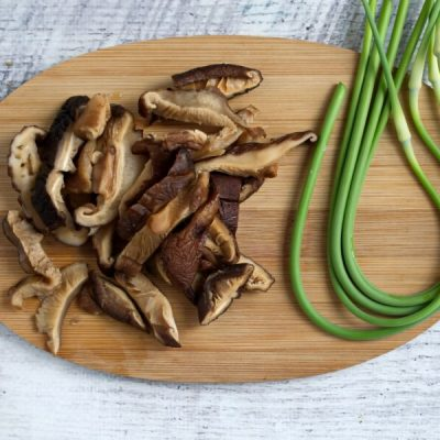 Vegan Stir Fried Garlic Scape recipe - step 1
