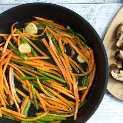 Vegan Stir Fried Garlic Scape recipe - step 4
