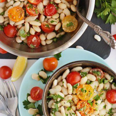 White Bean and Cherry Tomato Salad Recipe-Delicious White Bean and Cherry Tomato Salad-How to Make White Bean and Cherry Tomato Salad