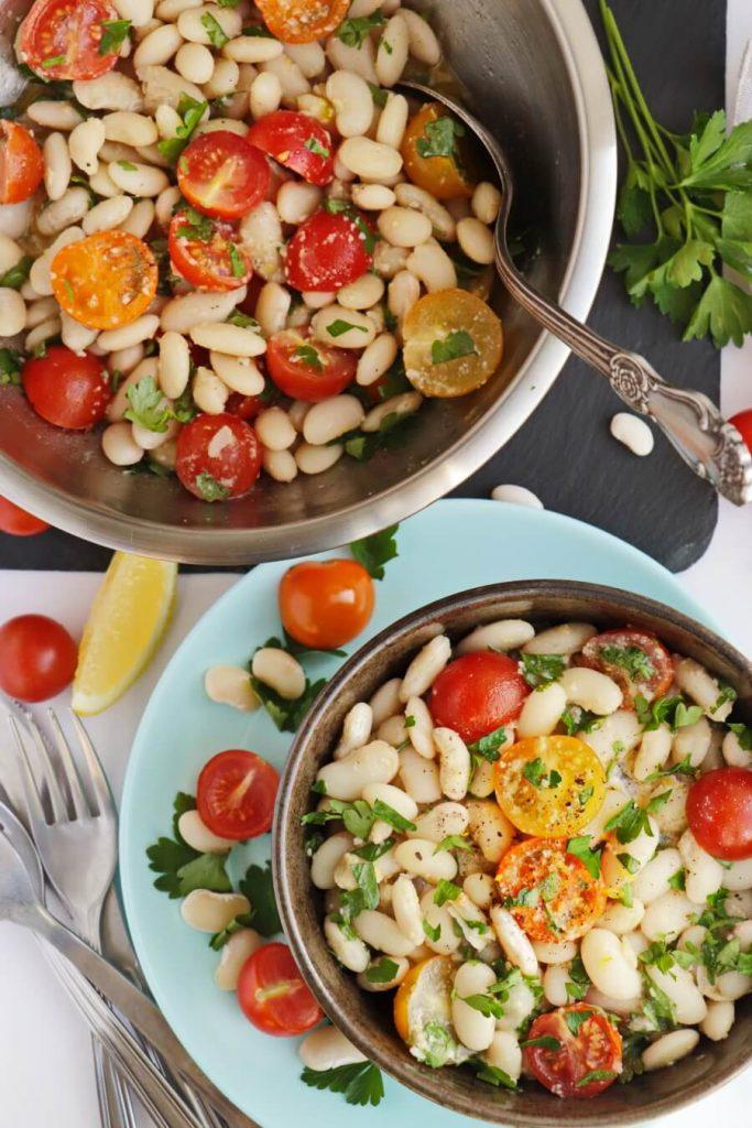 Delicious, fresh white bean salad