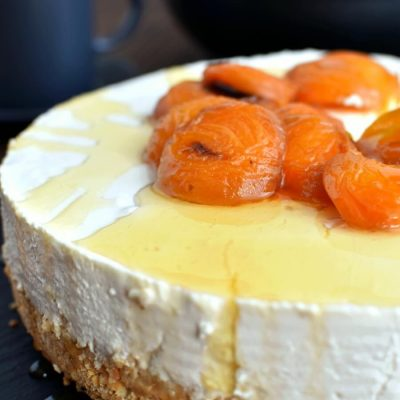 Yogurt cheesecake with honey-roasted apricots Recipe-How To Yogurt cheesecake with honey-roasted apricots-Delicious Yogurt cheesecake with honey-roasted apricots
