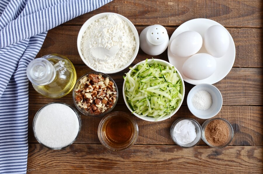 Ingridiens for Zucchini Bread