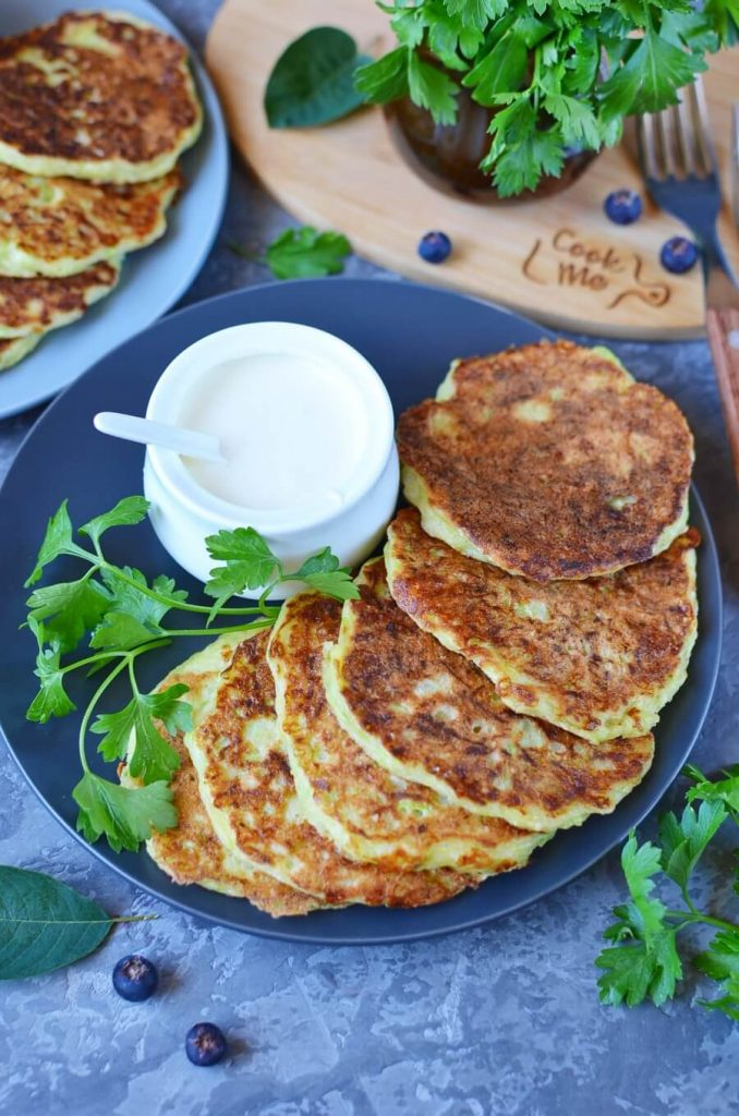 Delicious Savoury Zucchini and Cheddar Cheese Pancakes