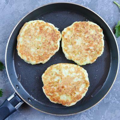 Zucchini Cheddar Pancakes recipe - step 3