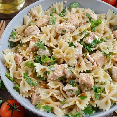 Sesame Pasta Chicken Salad Recipe-Delicious Sesame Pasta Chicken Salad-Homemade Sesame Pasta Chicken Salad