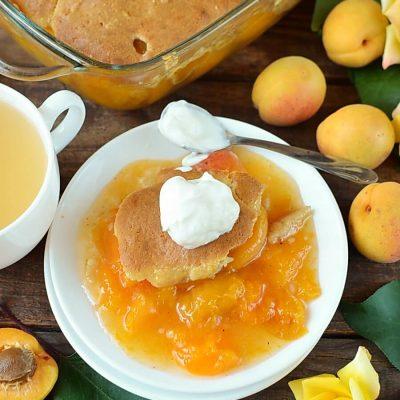 Apricot Cobbler Recipe-Homemade Apricot Cobbler-Delicious Apricot Cobbler
