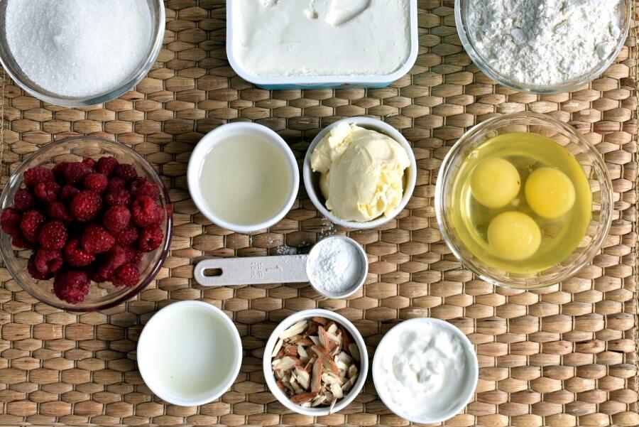 Ingridiens for Almond Raspberry Coffee Cake