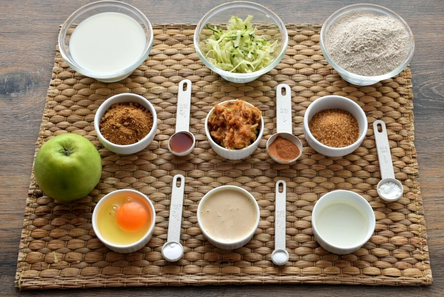 Ingridiens for Apple Zucchini Muffins