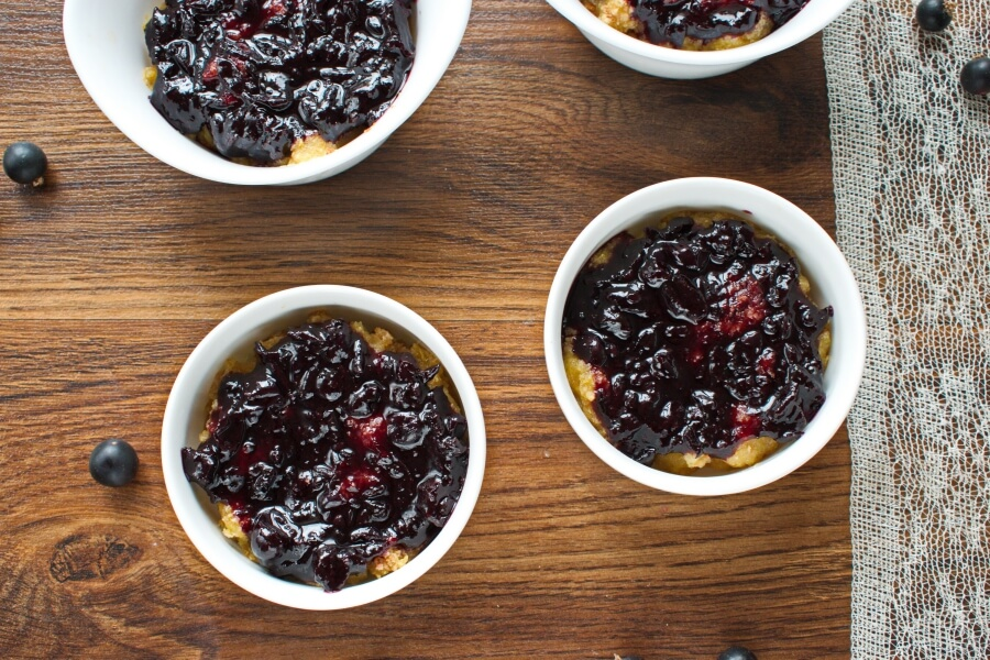 Blackcurrant Queen of Puddings recipe - step 7