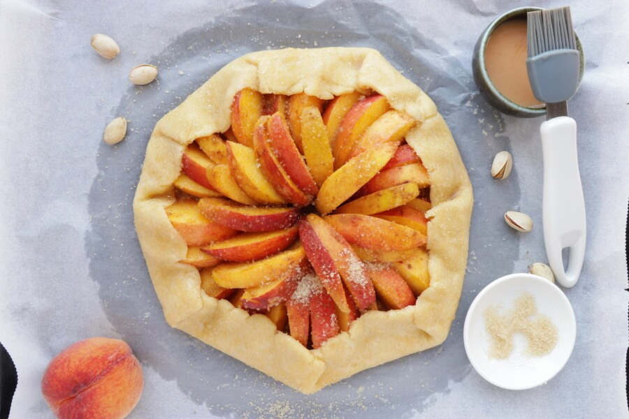 Bourbon-Honey Peach Galette with Pistachios recipe - step 9