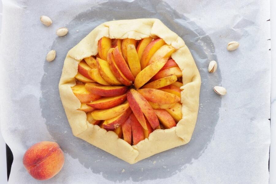 Bourbon-Honey Peach Galette with Pistachios recipe - step 8