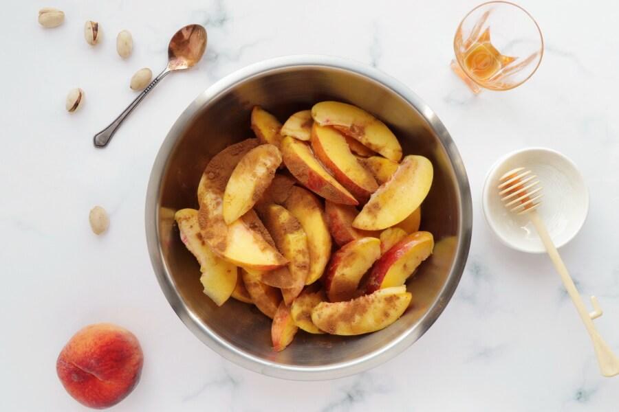Bourbon-Honey Peach Galette with Pistachios recipe - step 5