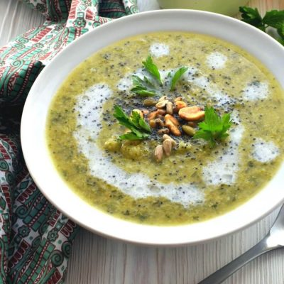 Broccoli Detox Soup Recipe-Homemade Broccoli Detox Soup-Delicious Broccoli Detox Soup