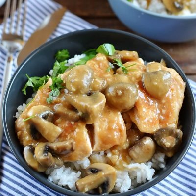 Chicken Marsala Over White Rice Recipe-Homemade Chicken Marsala Over White Rice-Delicious Chicken Marsala Over White Rice