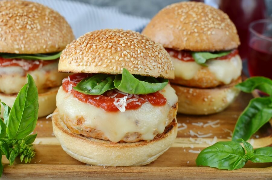 Chicken Parmesan Burgers Recipe-How To Make Chicken Parmesan Burgers-Delicious Chicken Parmesan Burgers