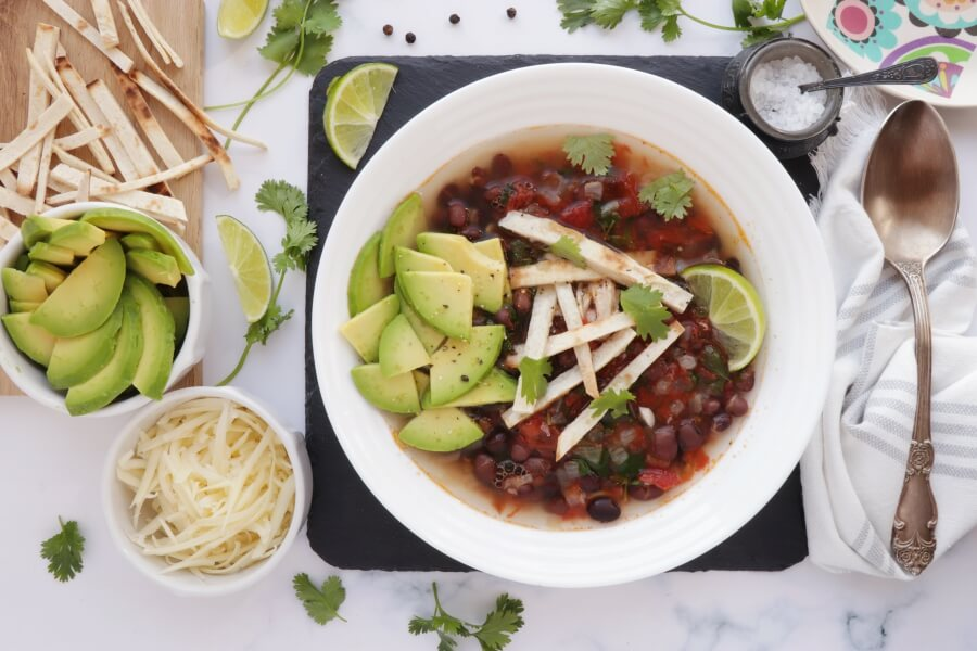 How to serve Chicken Tortilla Soup