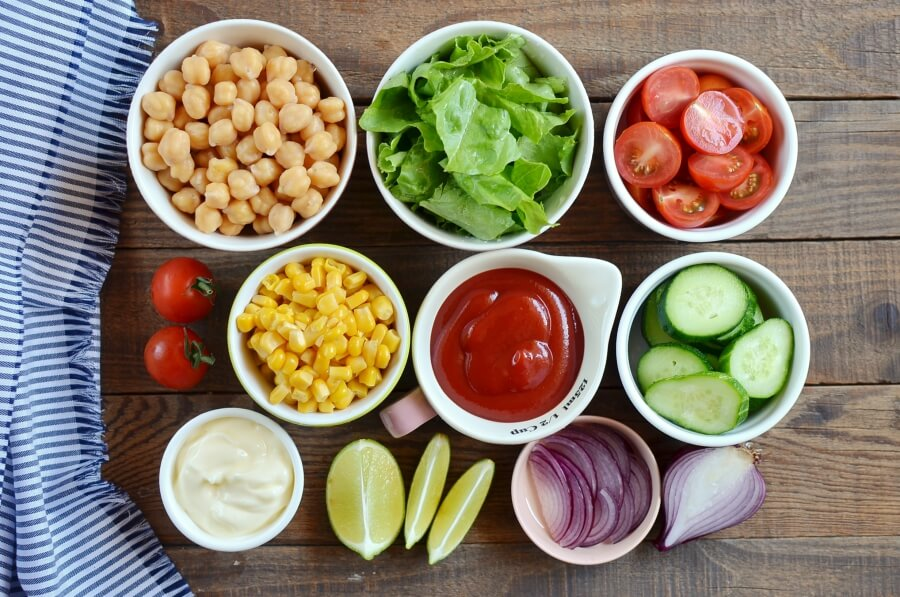 Ingridiens for Vegan Barbecue Chickpea Salad
