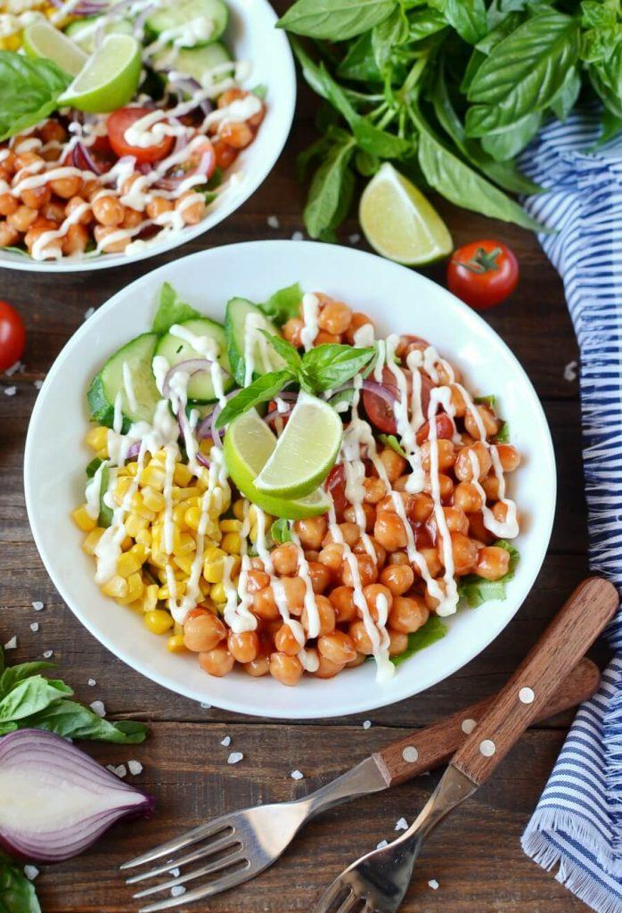 Vegan Barbecue Chickpea Salad