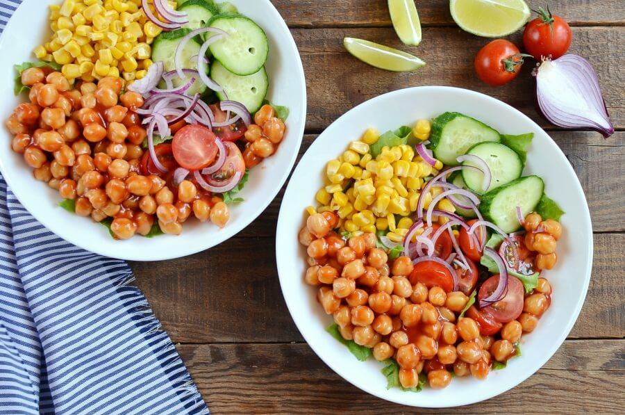 Vegan Barbecue Chickpea Salad recipe - step 3