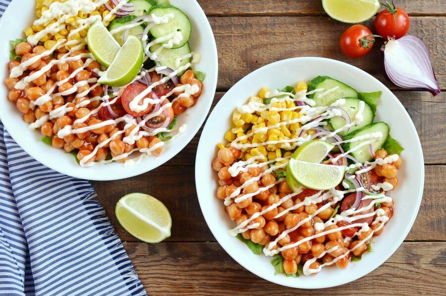 How to serve Vegan Barbecue Chickpea Salad