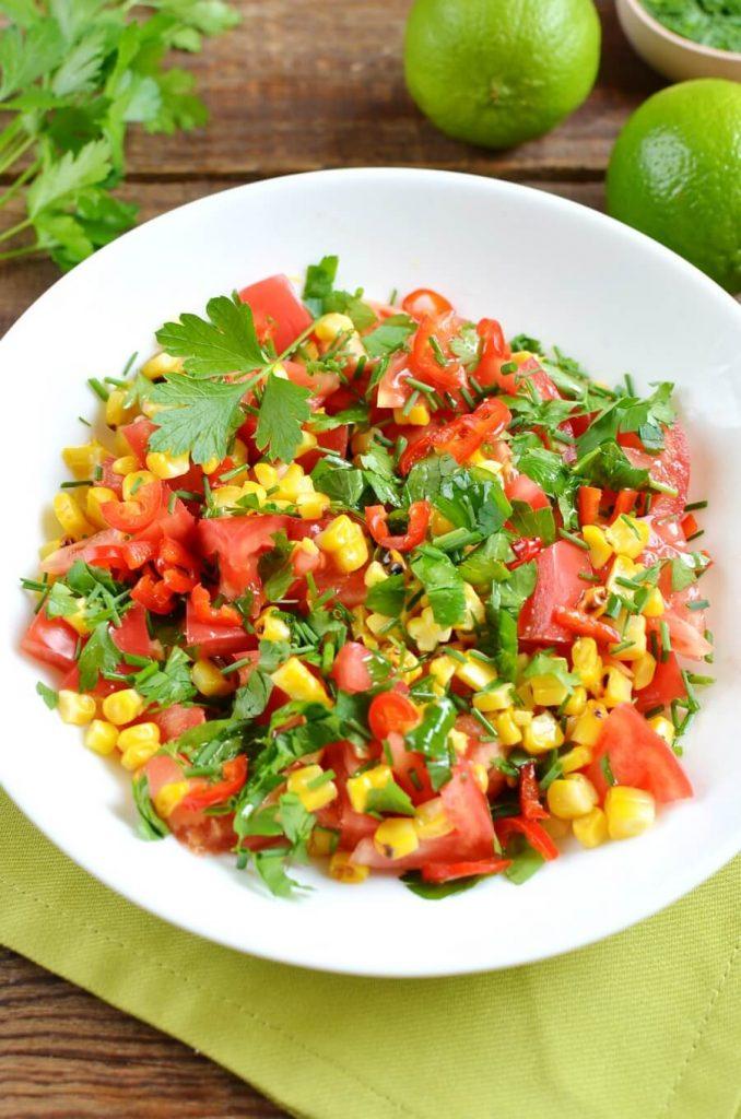 Vegan Mexican Spiced Corn Salsa