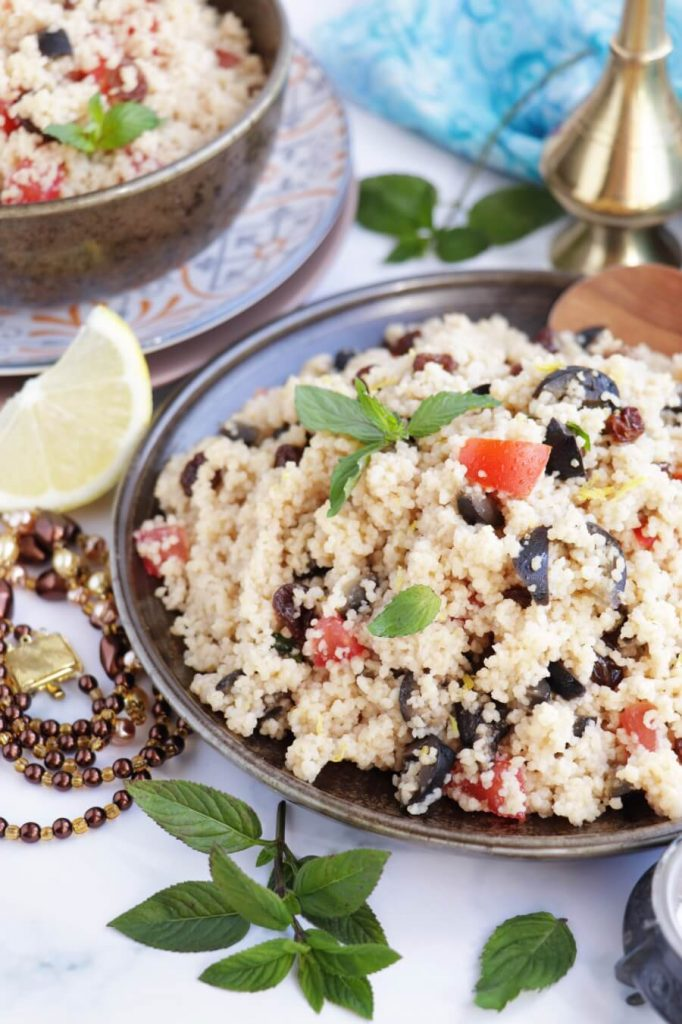 Couscous Salad with Olives and Raisins