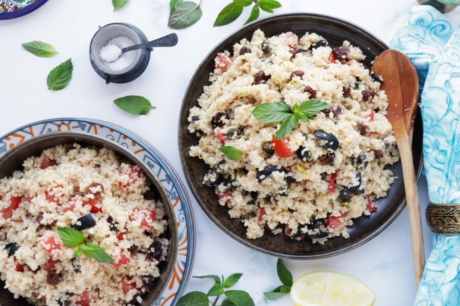 How to serve Couscous Salad with Olives and Raisins