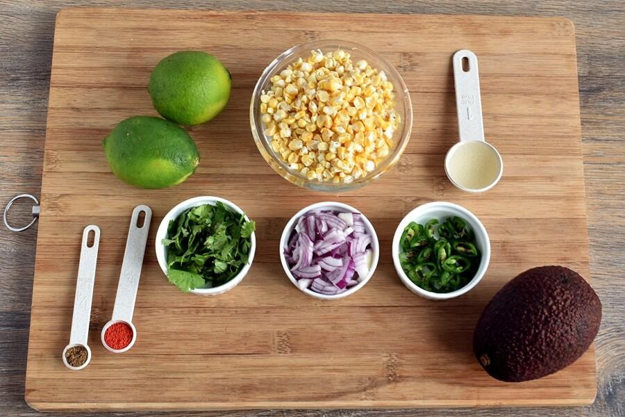 Ingridiens for Fresh Corn Salsa