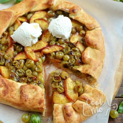 GOOSEBERRY NECTARINE GALETTE Recipe-How To Make GOOSEBERRY NECTARINE GALETTE-Delicious GOOSEBERRY NECTARINE GALETTE
