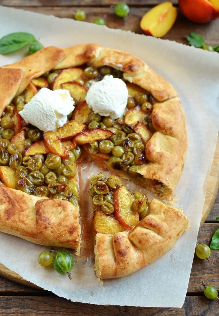 Easy to Make Berry and Nectarine Galette