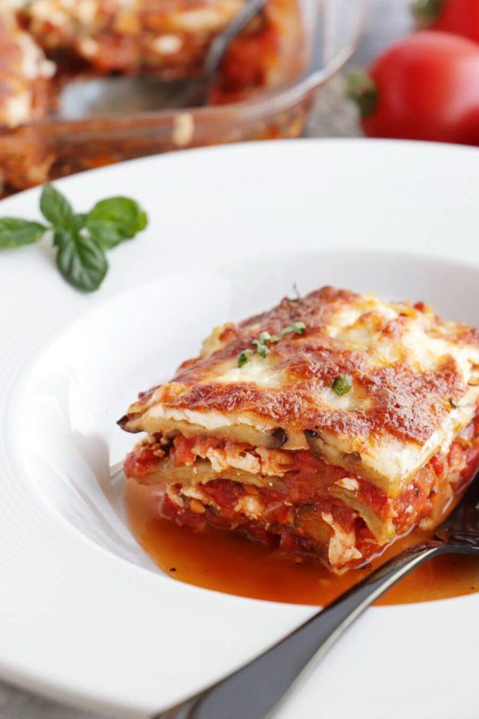Gluten-Free Eggplant Lasagna Recipe-Vegan Eggplant Lasagna-Gluten-Free & Vegan Eggplant Lasagna