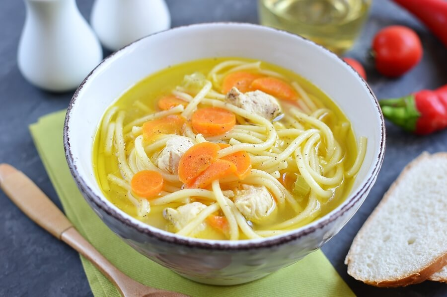 How to serve Gluten Free Homemade Chicken Noodle Soup