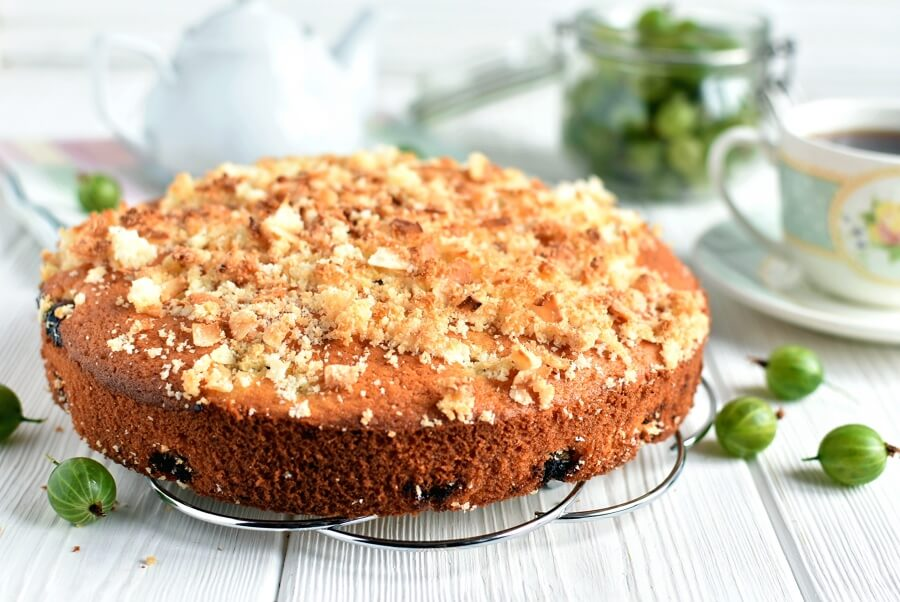 How to serve Gooseberry Coconut Cake